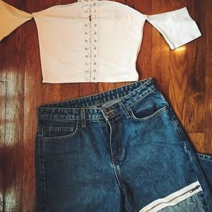 LF Lace Up Crop Top